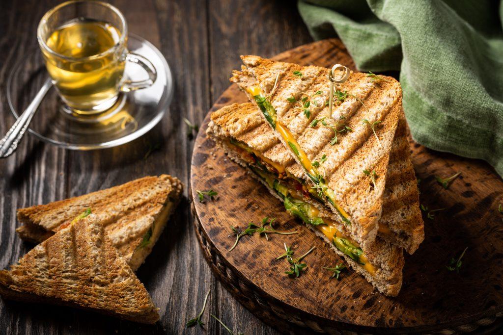 Avocado, Ham and Tomato Sandwich