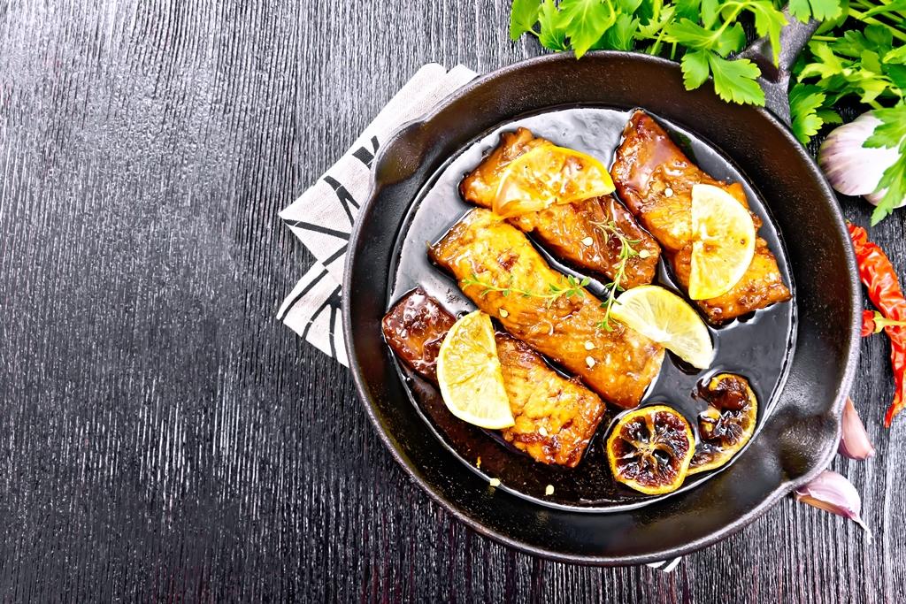 Salmon With Honey Garlic Glaze